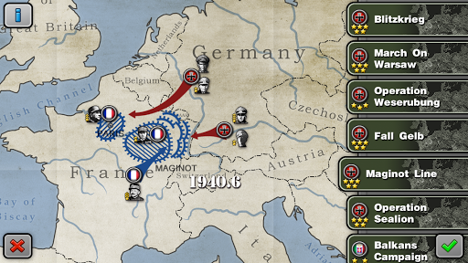 لعبة الحرب وإستراتيجية Glory Generals